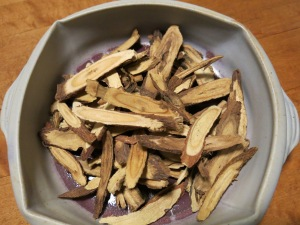 Licorice Root: If you can't grow it yourself, order Licorice Root and other TCM herbs as single bulk herbs (not in formula, capsule or pill) and from a reputable company, that tests thier herbs for dangerous substances like chemicals, sulfites, pesticides and heavy metals.