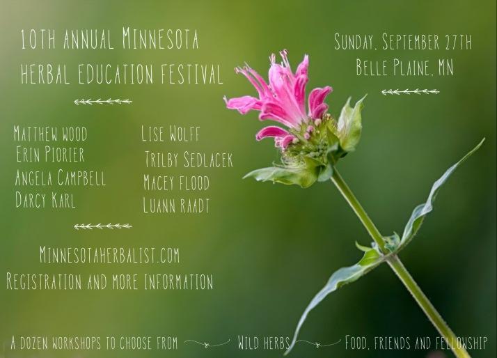 2015 herb fest promotional flyer